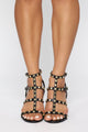 Unresolved Heeled Sandals - Black