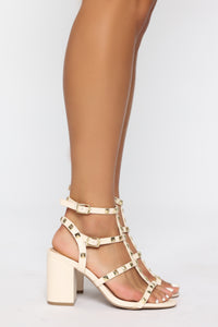 Unresolved Heeled Sandals - Ivory