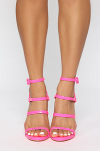 Into The Night Heeled Sandals - Pink Angle 2