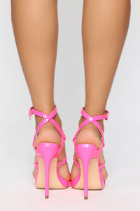 Into The Night Heeled Sandals - Pink Angle 4
