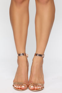 Strapped Success Heel - Rose Gold