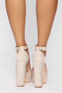 Summer Adventure Heeled Sandals - Nude
