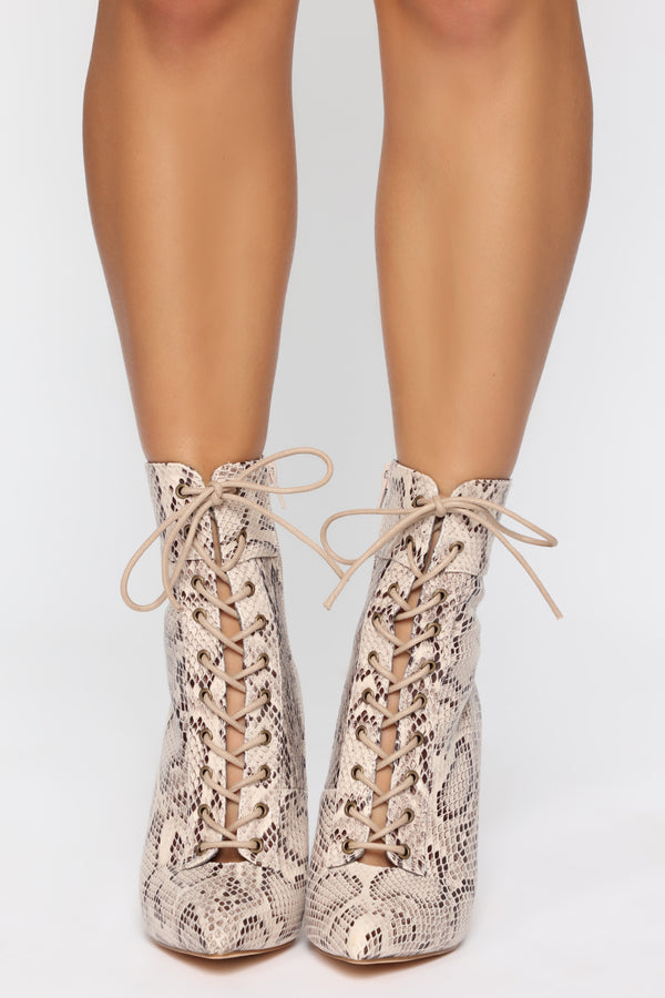 97574d826d Shine Bright Booties - Snake