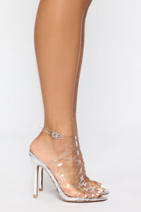 Lips Are Sealed Heeled Sandals - Clear