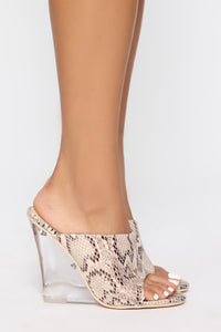 Step To It Heeled Sandal - Multi Snake Angle 2