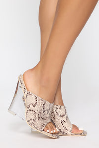 Step To It Heeled Sandal - Multi Snake Angle 3