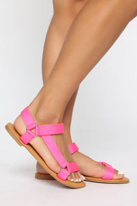 What Do You Think Flat Sandals - Pink