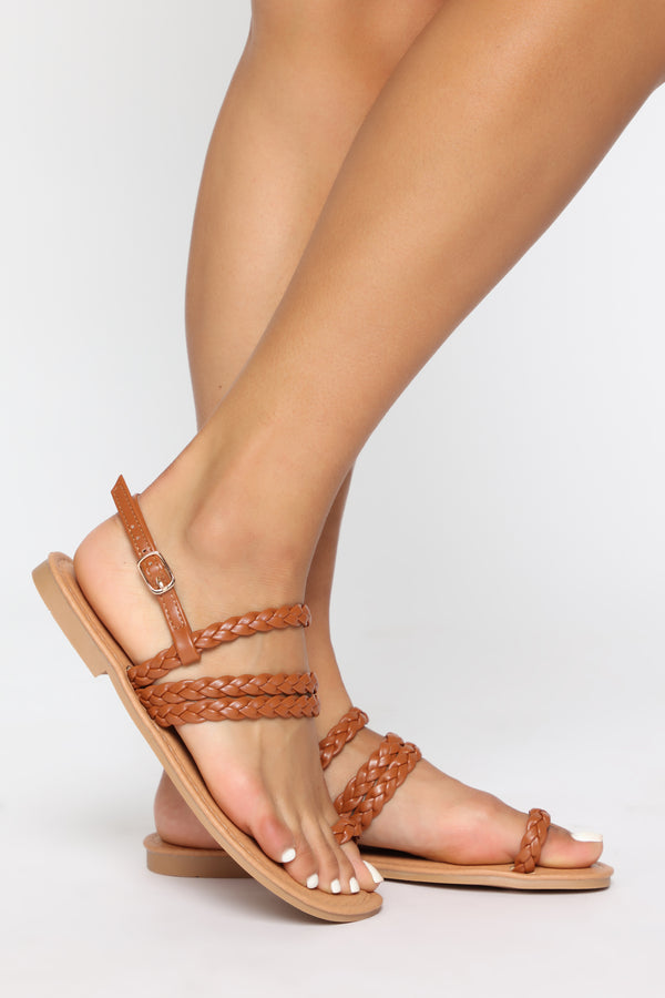 7304c688a21c Out Of My Mind Flat Sandals - Camel