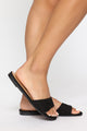 Not You Again Flat Sandals - Black
