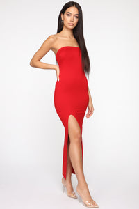 Rayna Tube Maxi Dress - Red Angle 3
