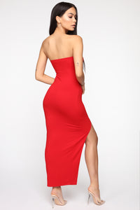 Rayna Tube Maxi Dress - Red Angle 4