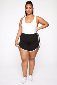 Everyday Kind Of Love Shorts - Black Angle 3