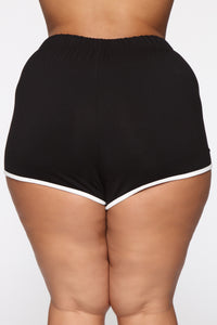 Everyday Kind Of Love Shorts - Black Angle 6