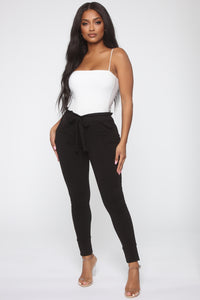 Just Keep It Comfy Joggers - Black Angle 2