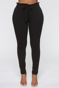 Just Keep It Comfy Joggers - Black Angle 1