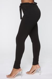 Just Keep It Comfy Joggers - Black Angle 4