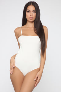Be By Your Side Square Neck Bodysuit - White