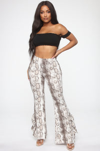 Queen Of The Jungle Flare Pants - Snake Angle 1