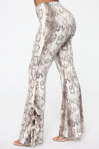 Queen Of The Jungle Flare Pants - Snake Angle 2