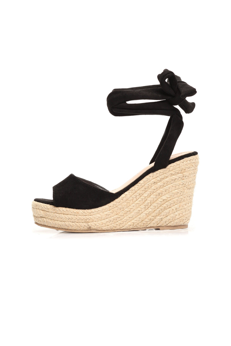 Summer Time Fine Wedge - Black