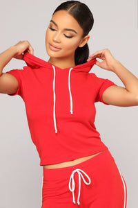 Tennis Time Short Sleeve Set - Red