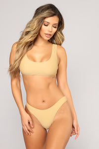 Calling All Angels Bikini Set - Beige
