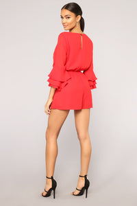 Sophie Romper - Red