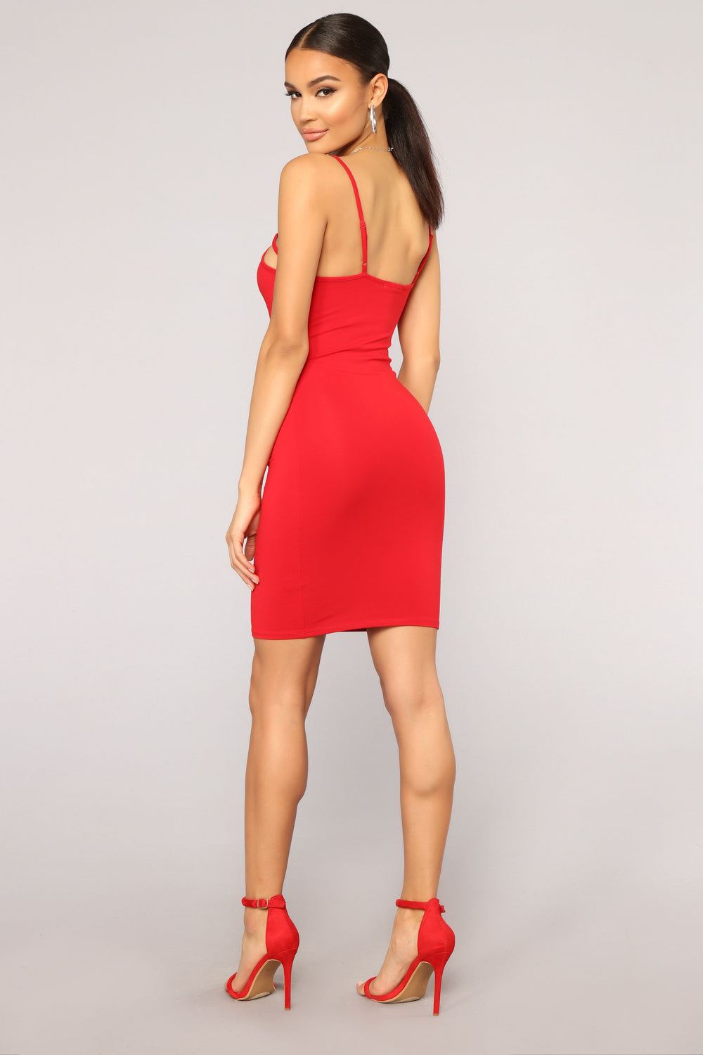 Cage Front Cutie Dress - Red