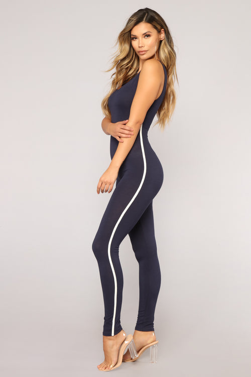 On The Go Jumpsuit - Navy