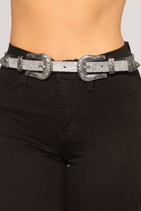 Rhinestone Cold Belt - Black