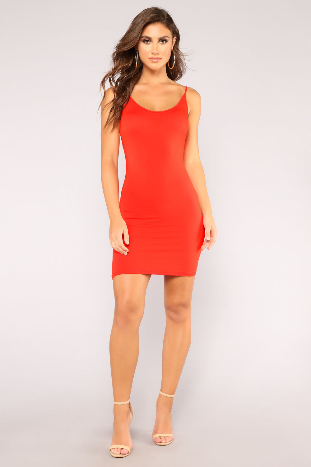Perfect Slip Dress - Red
