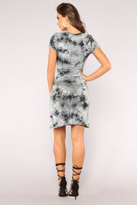 Perfect Tie Dye Dress - Black
