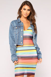 Key West Stripe Dress - Multi