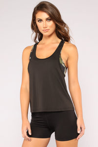Pull Rank Active Top - Olive Angle 1