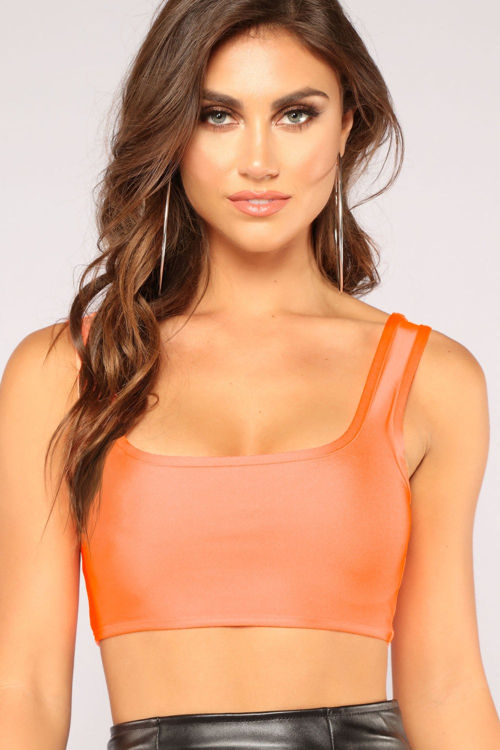 No More Chances Crop Top - Orange