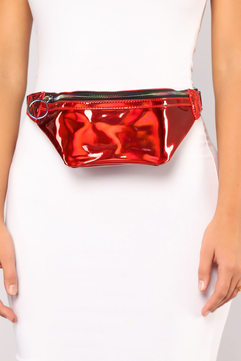 Waist My Time Fanny Pack - Red