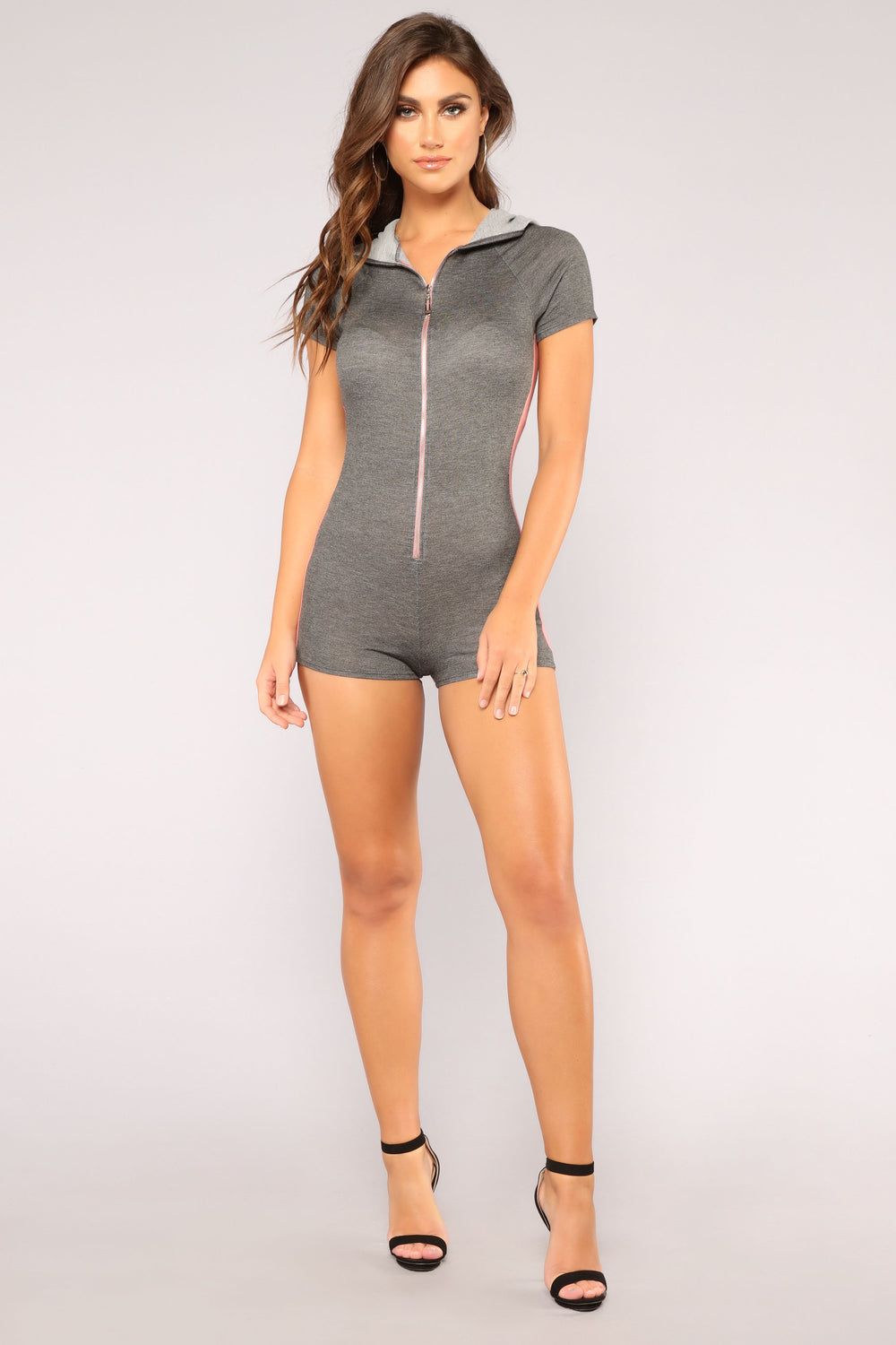 Favorite Cozy Romper - Charcoal