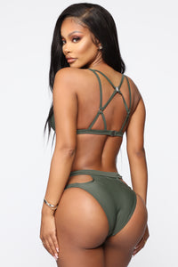 Your Beach Babe 2 Piece Swimsuit - Olive