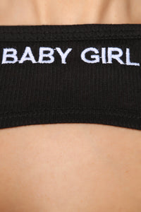 Baby Girl Super Crop Top - Black