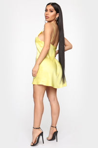 Get What I Want Slip Mini Dress - Yellow