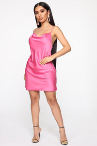 Get What I Want Slip Mini Dress - Fuchsia