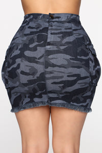 Almost Always Denim Skirt - Blue