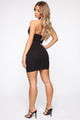 Say It's Not True Halter Mini Dress - Black