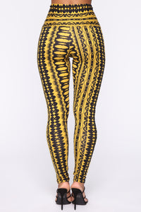 Ashley High Rise Print Leggings - Yellow Multi Angle 6