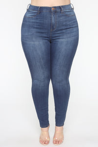 Emma Super Stretch High Rise Skinny Jean - Medium Wash