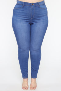 Emma Super Stretch High Rise Skinny Jean - Blue Angle 8