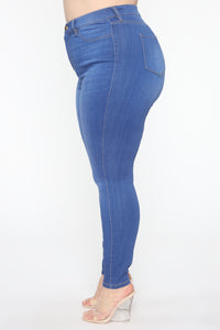 Emma Super Stretch High Rise Skinny Jean - Blue Angle 10