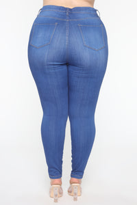 Emma Super Stretch High Rise Skinny Jean - Blue Angle 12