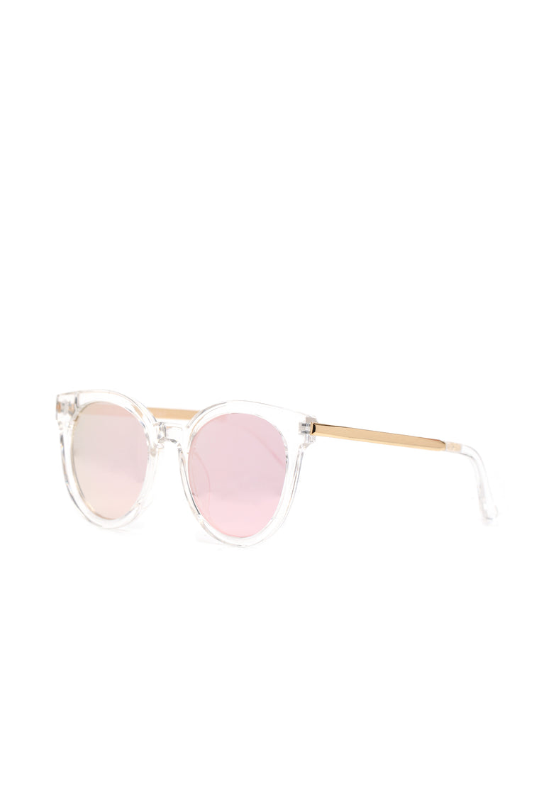 Total Diva Sunglasses - Clear