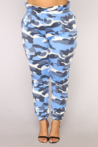 Flex On Em Camo Joggers - Blue